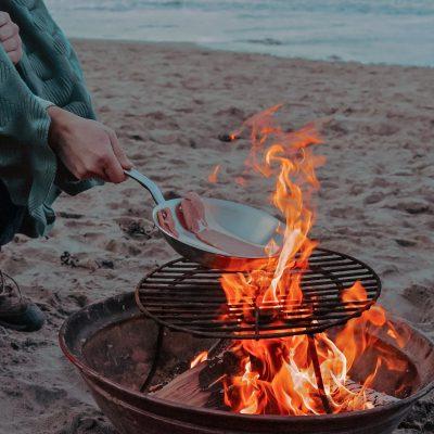 pork belly over fire